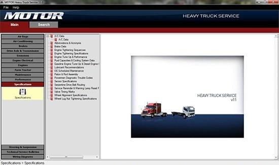 نرم افزار تعمیر و نگهداری و نقشه های سیم کشی خودروهای سنگین