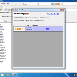 HITACHI Parts Manager Pro